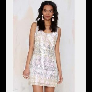 nasty gal disco princess sequins dress